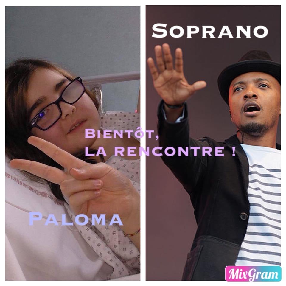 On réalise le reve de une fille, Paloma rencontre l'artiste Soprano